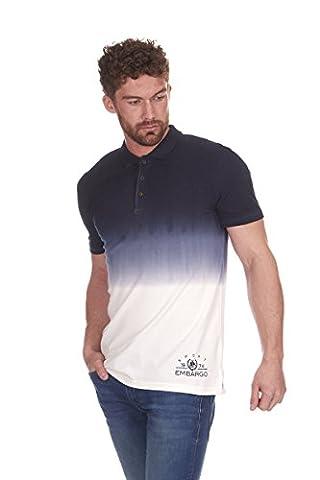 Mens Dip Tie Dye Polo Shirt Short Sleeve Retro Vintage