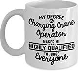NA Charging Crane Operator Coffee Mug Funny 11 Oz Novelty Tea Cup Gifts Ideas for Men Woman Dad Husband Boyfriend Girlfriend Best Friend Coworker Colle