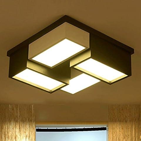 WTL Lighting Soffitto del LED Grille lampada da letto creativa