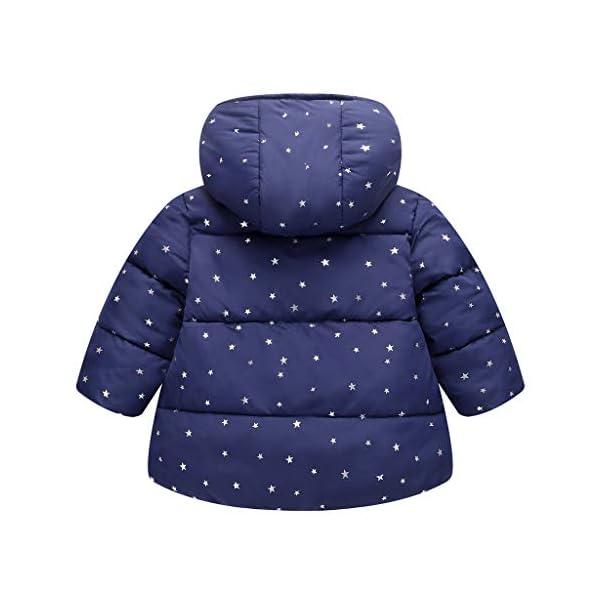 Algodón Abrigo para Niñas, Chaquetas con Capucha Invierno Calentito Ligero Abrigo Ropa para Bebés Niños 2