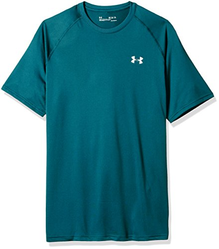Under Armour Herren Tech Short Sleeve Tee Kurzarmshirt, Tourmaline Teal/Tin, 4X-Large