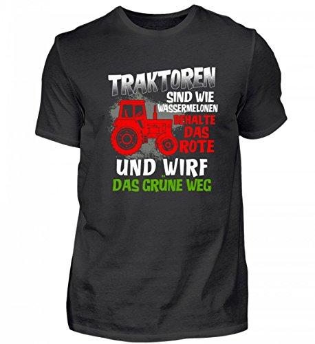 AP SHIRTZ Landwirtschaft Herren T-Shirt · Traktor · Lustiger Spruch · Geschenk für Landwirte · Motiv/Spruch: Traktoren sind wie Wassermelonen