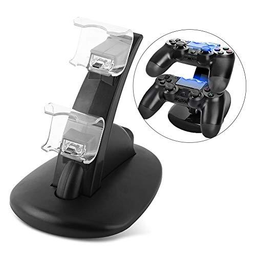 Denash USB-Ladegerät für Dual-Ladestation für PS4 Playstation 4 Slim/Pro Controller