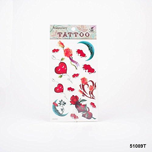 paare, Rosen mit Banner und Schriftzug Love, Mond und Tribal ()