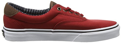 Vans Unisex-Erwachsene Era 59 Low-Top Rot (Cord & Plaid red dahlia/true white)