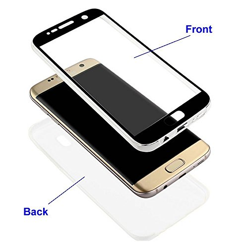 iPhone 5S Hülle,iPhone SE Hülle,Silikon Hülle für iPhone 5S,JAWSEU iPhone SE/5/5S 360 Grad Hülle Ultra dünn TPU Silikon Hülle Tasche Case Handy Cover Rundum Schutzhülle,2 in 1 Double Sides Full Body T 360 Grad:Klar