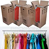 PPD 5 Large Strong Removal Moving Wardrobe Cardboard Boxes