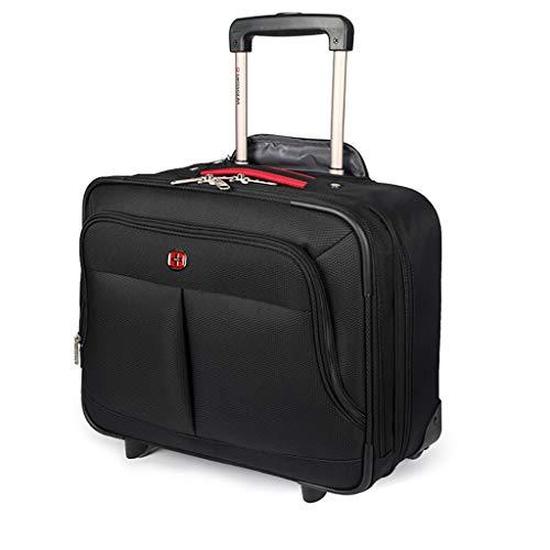 16 Rolling Tote (Fahrbare Laptop-Tasche, ideal für Geschäftsreisen Aktentasche Totes Gepäckwagen, wasserdicht, Abriebfest, 42,5 * 21 * 37 cm)