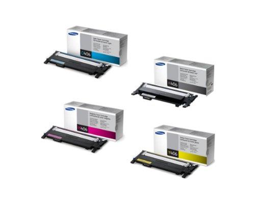Preisvergleich Produktbild Samsung Original Tonerkit CLT - K406S / ELS (schwarz) / CLT - C406S / ELS (cyan) / CLT - M406S / ELS (magenta) / CLT - Y406S / ELS (gelb