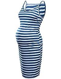Vestidos Premama 2019 Moda SHOBDW Vestidos Mujer Casual Verano Vestidos Mujer Rayas Cuello V Ropa Premamá