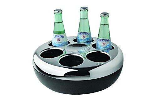 Helios Flaschenkühler Pure, Kunststoff, verchromt, schwarz -
