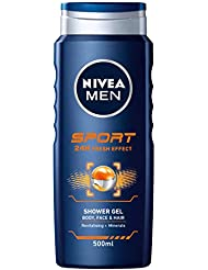 8a5c677d39df NIVEA MEN Sport Shower Gel Pack of 6 (6 x 500ml), Anti-Bacterial.