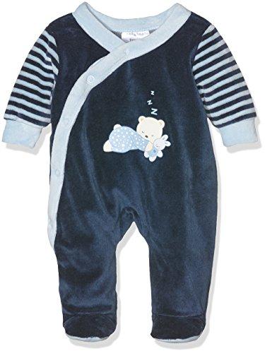 Twins Baby-Jungen Schlafstrampler mit Bärchen Print, Blau (Marine 3011), 50