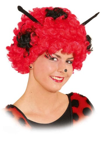 Orlob Käfer Perücke zum Marienkäfer Kostüm Karneval Fasching -