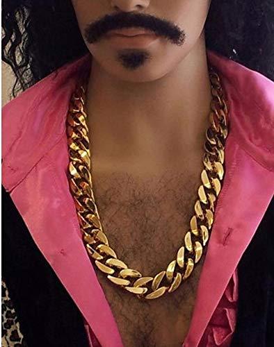 MB Big Daddy Rapper Pimp King Disco Chunky Gold Chain 70cm Fancy Dress Accessory