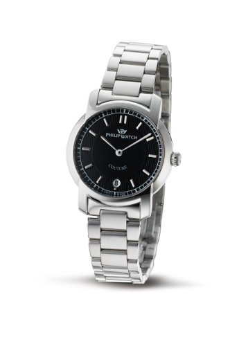Philip Ladies Couture Analogue Watch R8253198725 with Quartz Movement, Black Dial and Stainless Steel Case