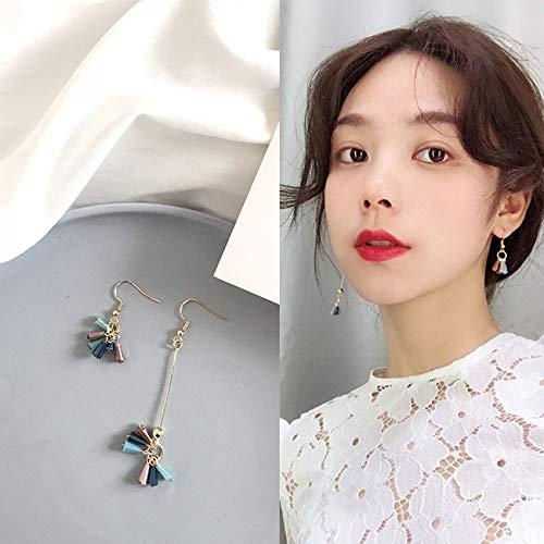Chwewxi Korea ins windgesichtige Gesicht Ohrringe weiche Mädchen Temperament Lange Retro einfache Wilde Ohrringe Ohrringe, Kürbis gelb R941 Ohrringe