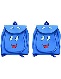 Pratham Enterprises Combo Of Blue Smile Bags- 35 CM (Pack Of 2 )