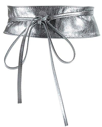 histoireDaccessoires - Ceinture Cuir Femme - CE126823-Bambina Gris Anthracite