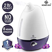 Home Spa Luxury Humidifier for your office and home. No filters required. Made from premium ABS material. Holds 2 Liters of water and works for 8 hours. Product is made with American Technology by Nureca Inc New York USA . The Humidifier comes with 1...