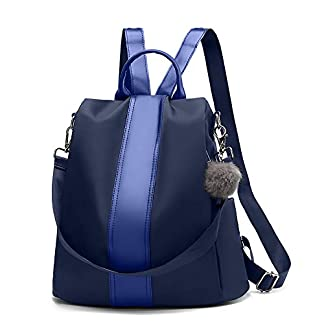 41Z9xHsmoUL. SS324  - Swonuk Anti-robo Mujer Mochila Impermeable Cuero PU Señoras Mochilas Escolares Bolsa de viaje, Negro