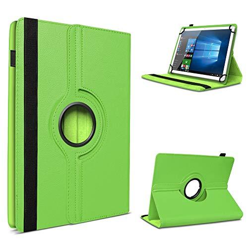 UC-Express Tablet Hülle für Blaupunkt Atlantis A10.303 Tasche Schutzhülle Case Schutz Cover 360° Drehbar 10 Zoll Etui, Farbe:Grün