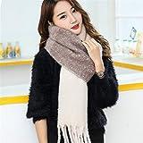 Xyydn Bufanda de invierno for mujer Bufandas de cachemira Chales Bufanda suave for mujer Chales de invierno cálido de lana Poncho estolas femeninas (Color : Pink, Size : 210X50CM)