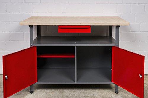 Werkstatteinrichtung bestehend aus: Werkbank, Werkstattschrank und Euro-Lochwand - 2