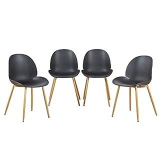 EGGREE 4er Set Esszimmerstühle Skandinavisch Mit Starke Metallbeine, Modern  Design Stuhl Für Büro Küche Wohnzimmer