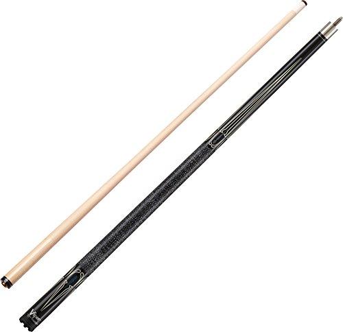 Viper Sinister Billardqueue, 147,8 cm, 2-teilig, Schwarz mit cremefarbenen Punkten, Black Stain with White/Dark Blue Inlay, 21-Ounce -