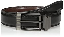 Van Heusen Mens Mens Stitched Leather Reversible Belt