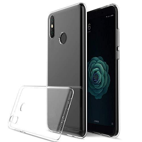 König Design Handy-Hülle Kompatibel mit Nokia 6.1 Plus durchsichtige Schutz-Hülle Transparent Silikon Slim Case Plastik Cover durchsichtig