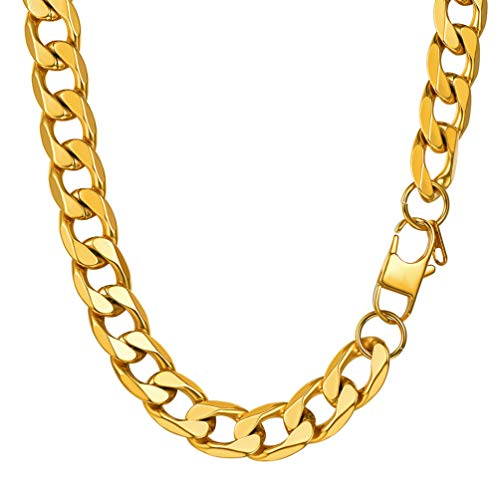 PROSTEEL Cuban Chain Necklace 13MM 51CM Miami Iced Out Hip Hop Jewelry for Men