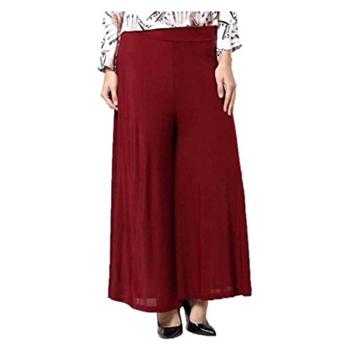 Fashion Guru Trading Maroon Viscose palazzo For Women & Girl  available at amazon for Rs.195