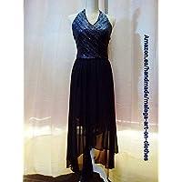 vestido fiesta negro pico