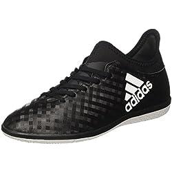 adidas X 16.3 IN, Botas de Fútbol Unisex Niños, Negro (Core Black / Ftwr White / Core Black), 38 EU