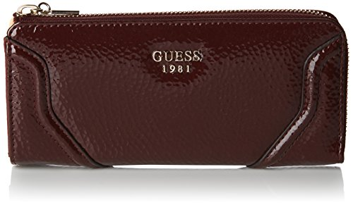 Guess Damen Georgie Slg Slim Zip Wallet Top Münzbörsen, Rot (Bordeaux), One Size (Wallet Zip Slim)