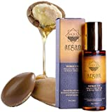 """The Premium Extra Virgin Moroccan Argan Oil in 100ml - 100% Effective, producing result in one week of application on the Face, Hair, Skin and Nails - Natural Treatment for photosensitive skin, Wrinkles and Hair Loss for centuries - A way to healthy skin, healthy hair, and healthy life. The New York Times calling it """"The Latest miracle Ingredient"""" - Premium Quality."""