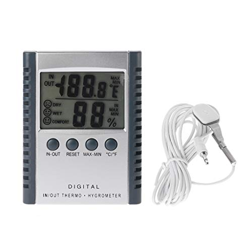 BASSK Digitales Innen- / Außenthermometer Luftfeuchtigkeitsmessgerät HC520 Wetterstation mit Sensor