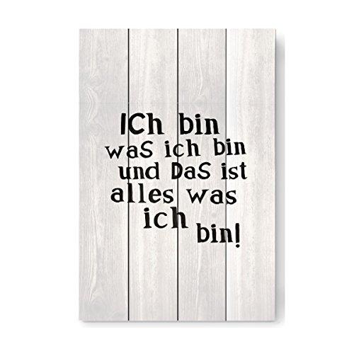 """artboxONE Holzbild 60x40 cm Für Kinder """"Ich bin was ich bin"""" von Künstler OHKIMIKO"""