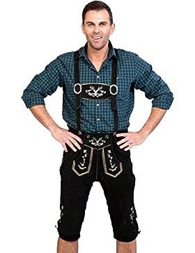 Almwerk Herren Trachten Lederhose Kniebund Modell Hipster in schwarz, braun und hellbraun
