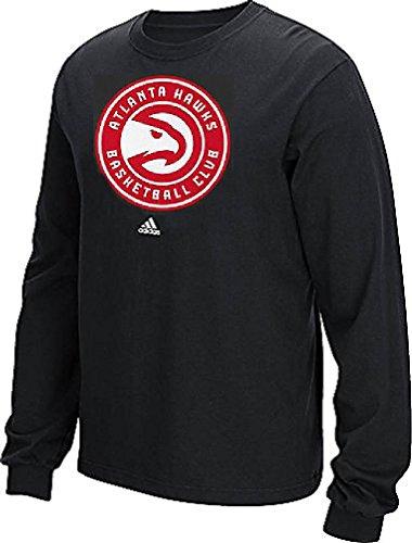 Atlanta Falken schwarz New Primär Logo Long Sleeve Tee Shirt von Adidas, Herren unisex, schwarz