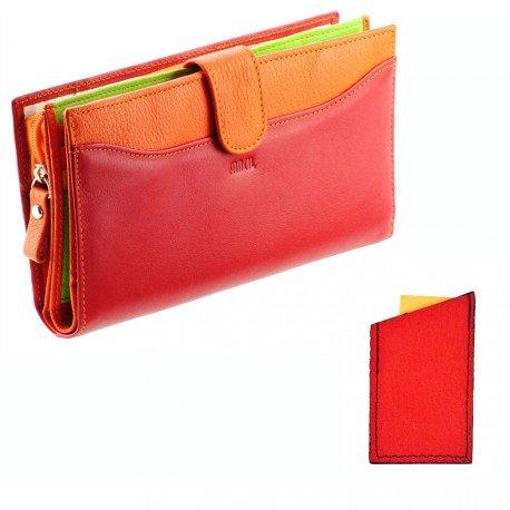 charmoni-porte-chequier-carte-monnaie-compagnon-femme-en-cuir-de-vachette-veritable-neuf-delio-rouge