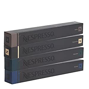 40 Nespresso mix (10 x Kazaar,10 x Dharkan,10 x Ristretto,10 x Roma)