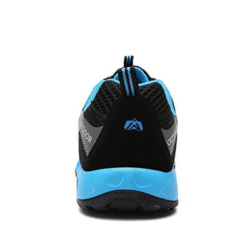 Traspirante Gomnear Per Sneaker Scarpe Trekking Impermeabili Antiscivolo Trekking Uomini Arrampicata Da Piedi A Nero Da Scarpe Gli FHqpYw