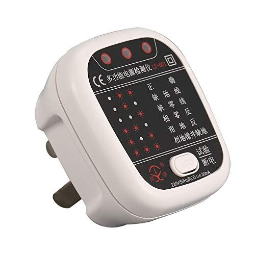 8Eninide Socket Tester Outlet Circuit Polarity Voltage Detector Plug Breaker Finder Black & White Voltage Detector Circuit