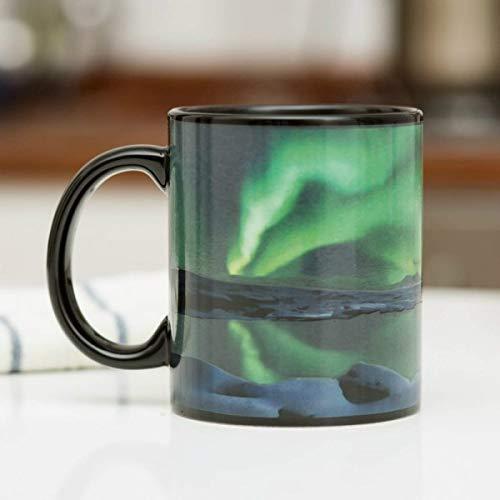 Mugs NORMUGCC Northern Lights Effet de Changement de Couleur, Vert
