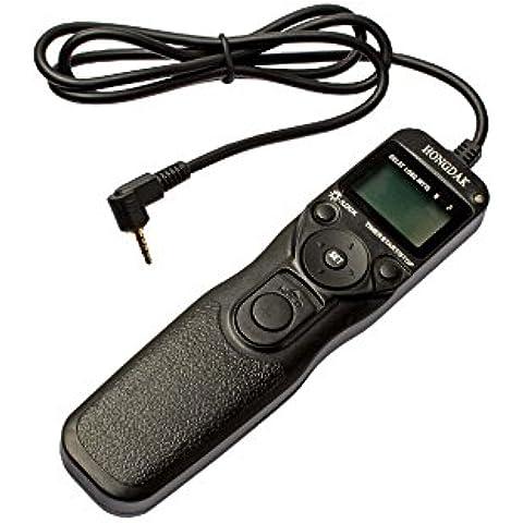 vhbw Control remoto con cable, disparador remoto, controlador para Leica Digilux 2, V-Lux 1, V-Lux 2 por DMW-RS1, DMW-RSL1.