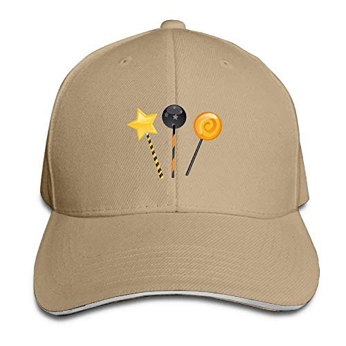 Zengyan Men's Women's Halloween Magic Candy Cotton Adjustable Peaked Baseball Cap Adult Sandwich Hat