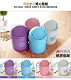 Blueee : Waste Bins 12 Styles Plastic Desktop Garbage Cleaning Barrel Creative Candy Color Small Trash can Desk Organizer Dustbins 9D0016